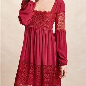 Anthropologie | Floreat Aveline Crochet Lace Dress